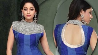 How To Cut And Stitch Designer Neckline With Front Back Collar