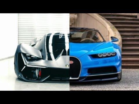 2019 Lamborghini Terzo Millennio Vs Bugatti Chiron 2018