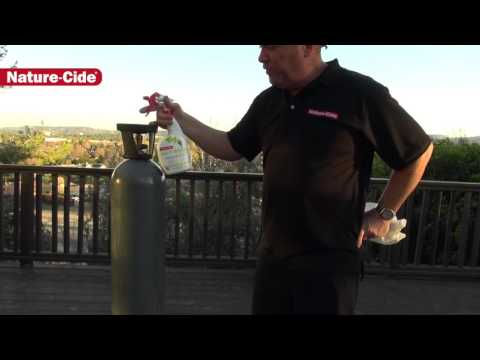 Disinfecting CO2 Bottles using Nature-Cide All-Purpose