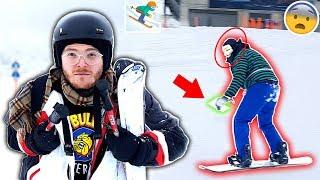 GAME MASTER SNOWBOARD VERFOLGUNGSJAGD mit SKI im SCHNEE !!!