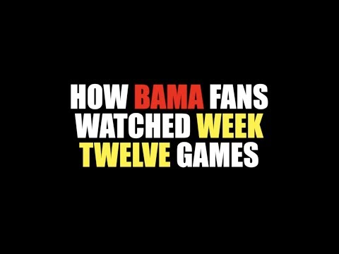 How Bama Fans Watched Week Twelve Games 2018
