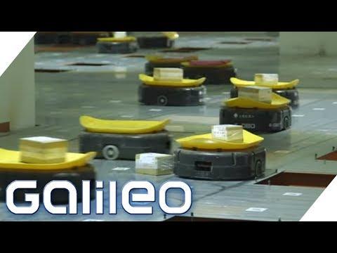 Die Roboterarmee im Paketzentrum: Chinas neue Arbeiter