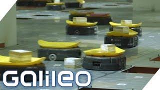 Die Roboterarmee im Paketzentrum: Chinas neue Arbeiter | Galileo | ProSieben