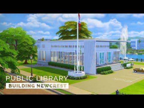Sims 4     Speedbuild     Building Newcrest - Public Library