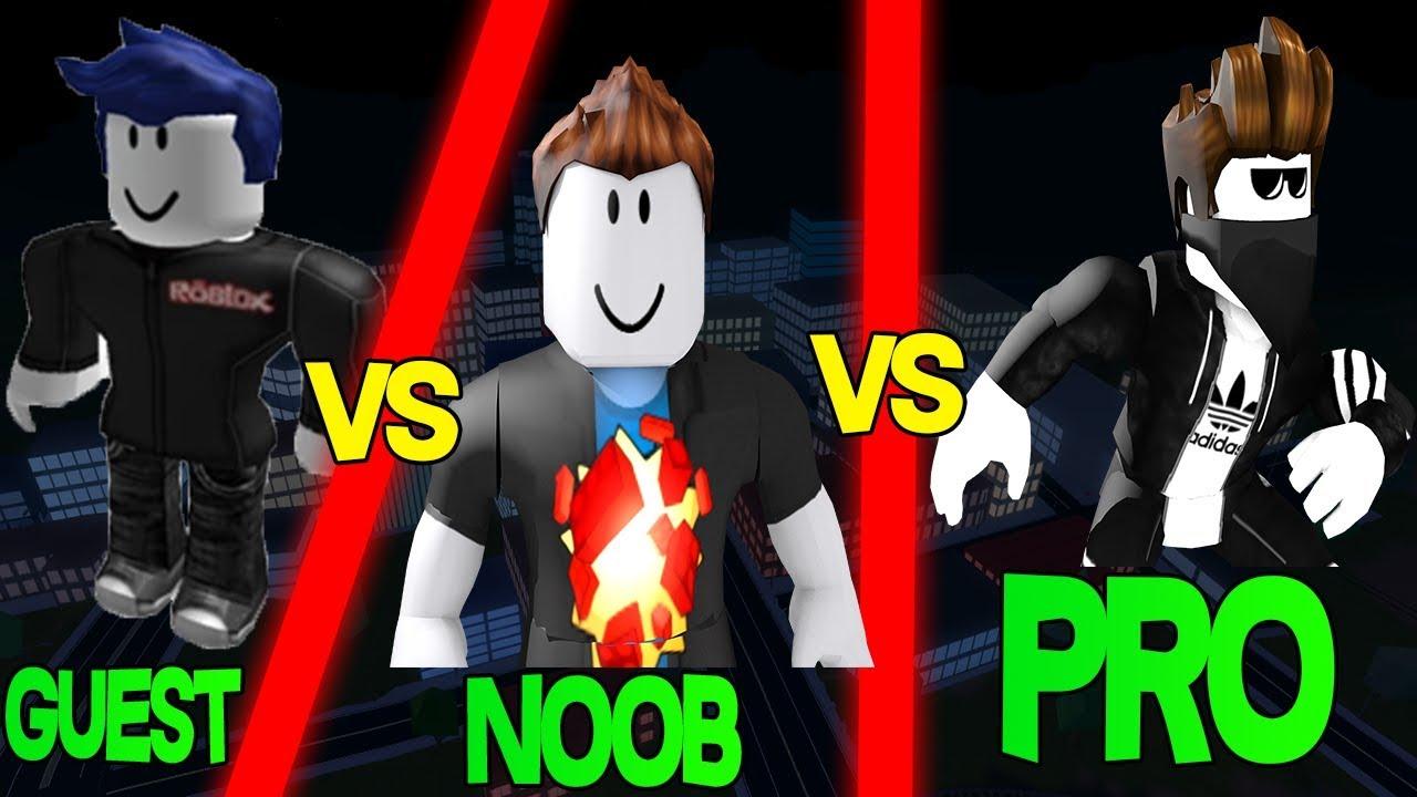 Roblox Jailbreak Guest Vs Noob Vs Pro Youtube