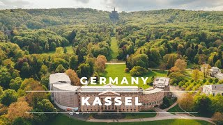 Kassel, Germany from above in 4k   Aerial footage of the city of Kassel