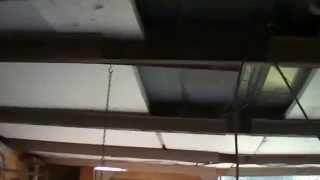 Heatshielded Styrofoam Insulation Installed In Shed Roof