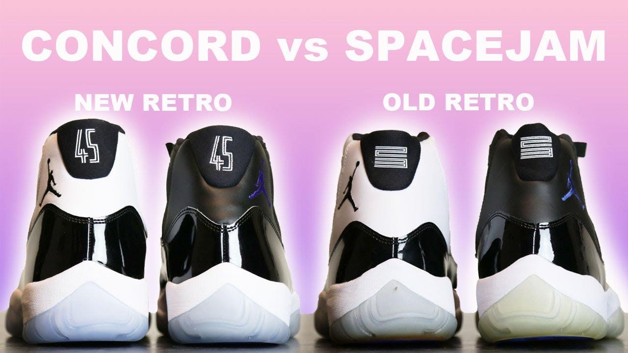 Concord vs Space Jam Air Jordan 11