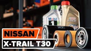NISSAN X-TRAIL Öljynsuodatin asentaa : videokäsikirjat