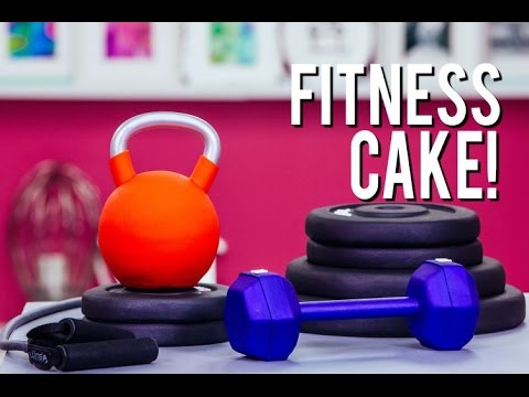How To Make FITNESS EQUIPMENT Out Of CAKE! Vanilla Cake, Buttercream and Fondant!