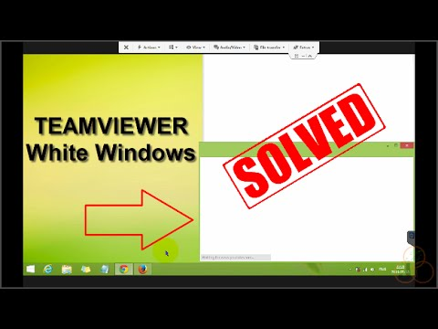 How To Fix Teamviewer White Windows