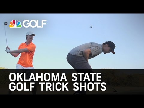 Oklahoma State Golf Trick Shots | Golf Channel