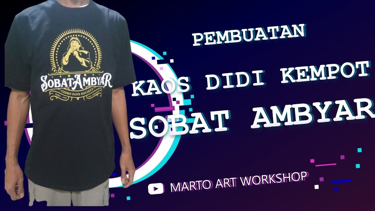 Live Screen Printing Kaos Didi Kempot Sobat Ambyar Youtube