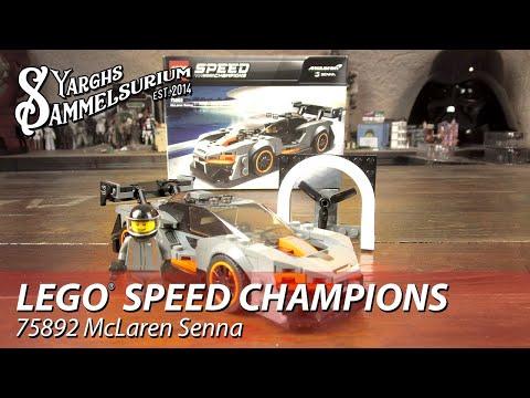 Review LEGO Speed Champions 75892 - McLaren Senna - Unboxing deutsch