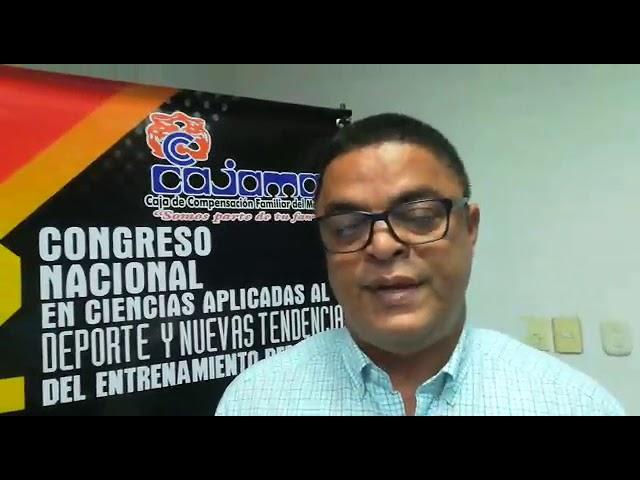 II  Congreso  Nacional en Ciencias Aplicadas al Deporte, entrevista con Edilberto López