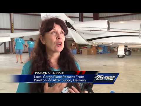 Local cargo plane returns from Puerto Rico after supply delivery