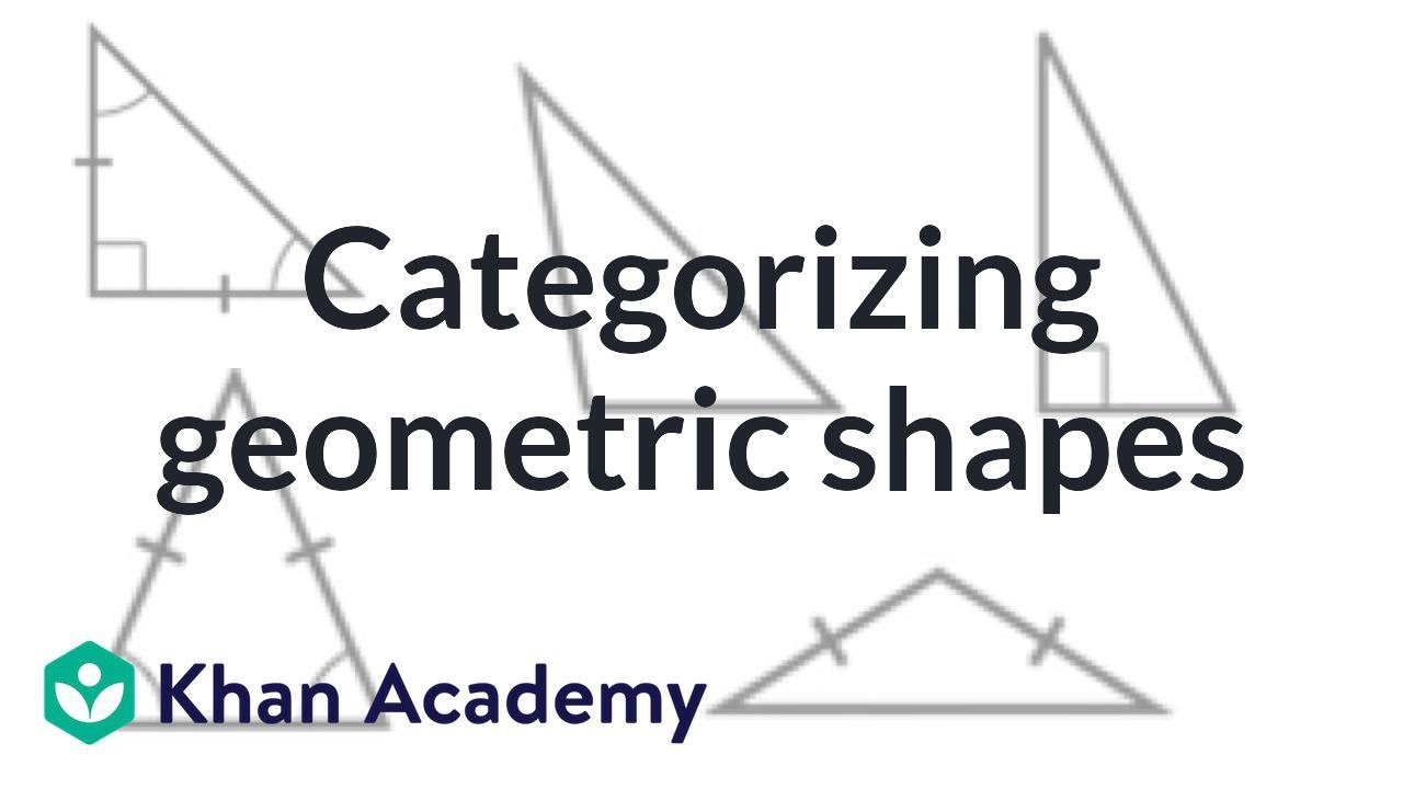 categorizing geometric shapes: practice examples | 4th grade | khan