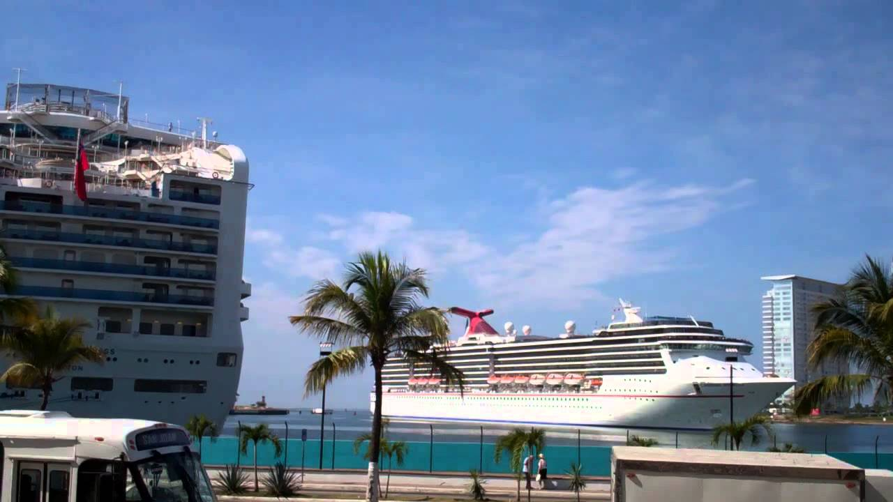 Time Lapse Of Carnival Miracle Cruise Ship Docking In Puerto - Cruise ship schedule puerto vallarta