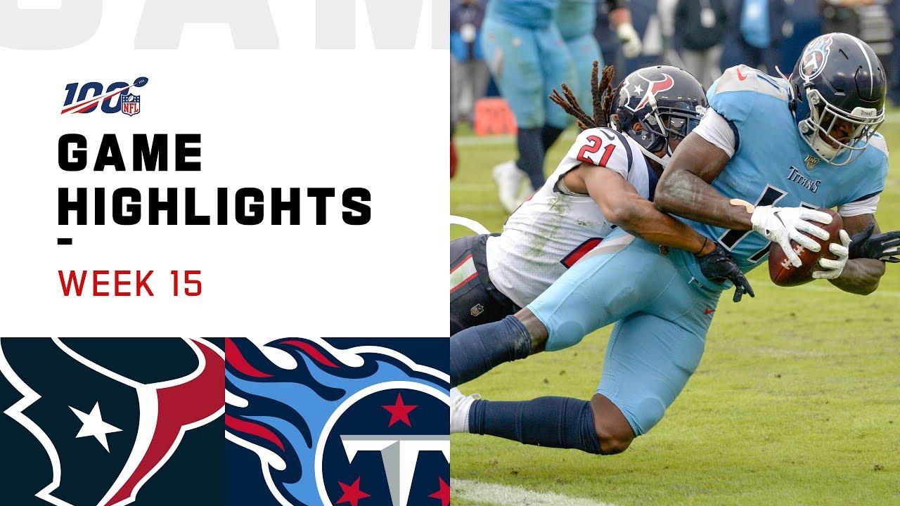 Texans vs. Titans Week 15 Highlights | NFL 2019