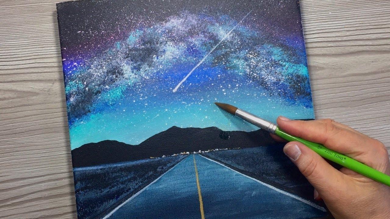 Milky Way Art   Spray Art - YouTube
