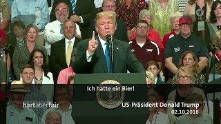 Trump ist verantwortlich - aber wofür? Hart aber Fair 05.11.2018 - Bananenrepublik