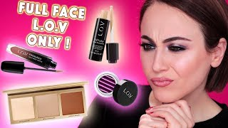 Full Face Using Only LOV Products ❣️ | LOV Cosmetics Drogerie One Brand Makeup Look | Hatice Schmidt