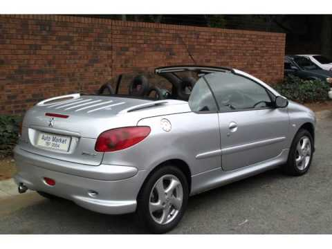 2004 peugeot 206 cc convertible auto for sale on auto. Black Bedroom Furniture Sets. Home Design Ideas