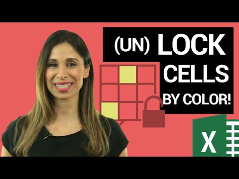 Lock Cells & Protect Excel Worksheet - EVEN by Cell Color!