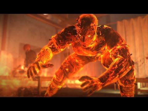 Metal Gear Solid 5: Man on Fire Boss Fight (1080p 60fps)