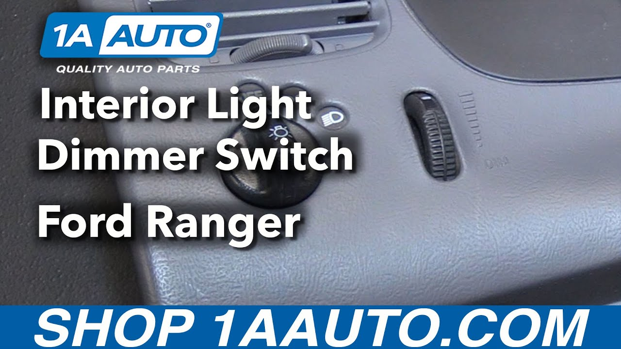 hight resolution of how to replace interior light dimmer switch 98 12 ford ranger