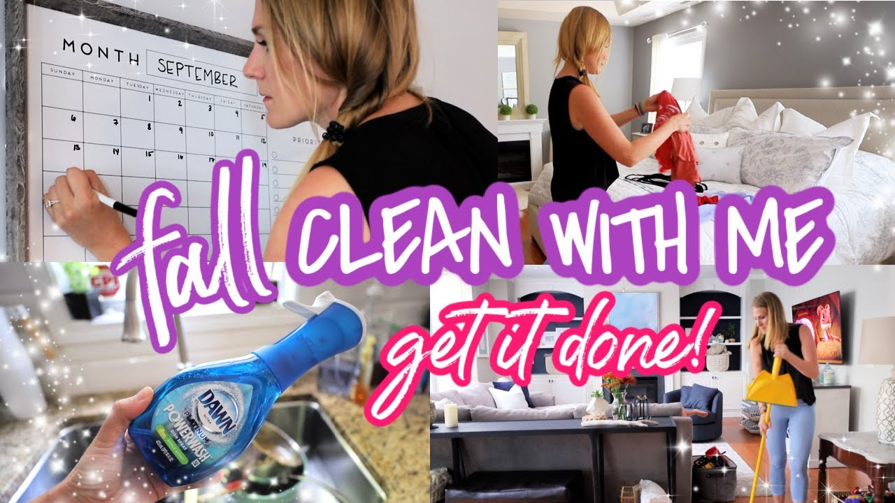 ULTIMATE FALL CLEAN WITH ME (motivation when you feel like you can't...let's do this!)