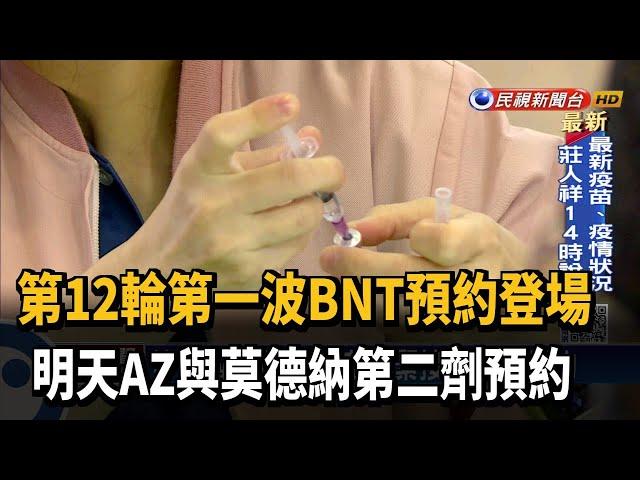 12輪首波開跑 30歲以上可預約BNT第1劑-民視台語新聞