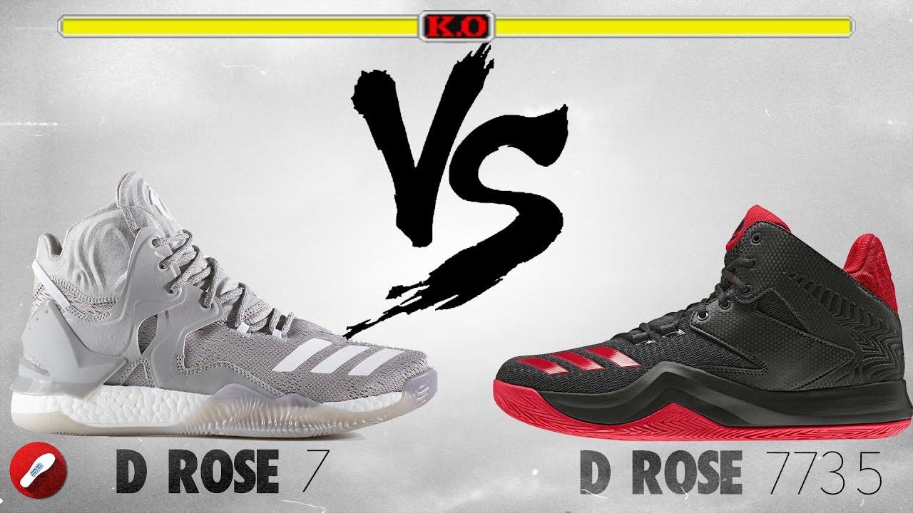 e0006657c6e Adidas D Rose 7 vs D Rose 773 V! - YouTube