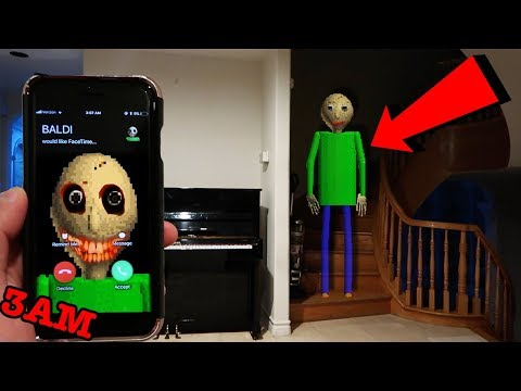 (CREEPY) CALLING BALDI'S BASICS ON FACETIME AT 3AM | BALDI CAME TO MY HOUSE AT 3AM!