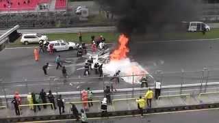 Piloto de lamborghini quase morre queimado