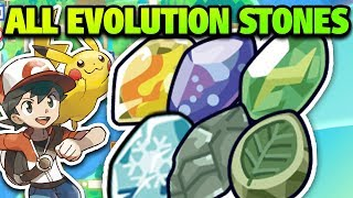 How & Where to Get ALL Evolution Stones in Pokémon Let's Go Pikachu and Eevee