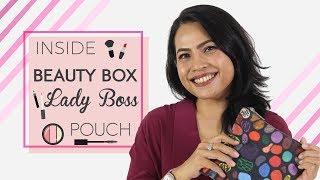 Beauty Box FD Lady Boss, Ina Balasong   Inside Her Makeup Pouch