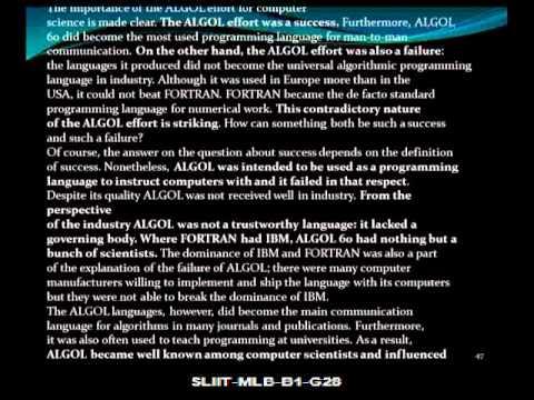 Fortran Vs Algol Video - Part 4