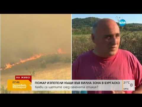 Пожарът в Бургаско изпепели над 10 сгради - Здравей, България (03.08.2017г.)