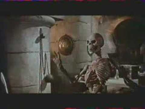 Sinbad VS Evil Magician's Skeleton from the 7th Voyage of