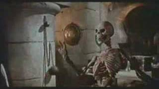 Sinbad VS Evil Magicians Skeleton from the 7th Voyage of