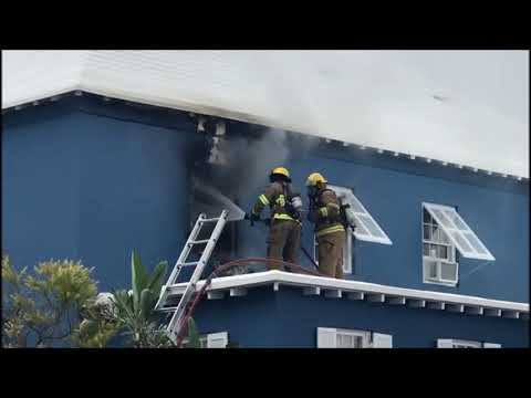 BFRS Respond To Fire In St George's, Sept 2 2017