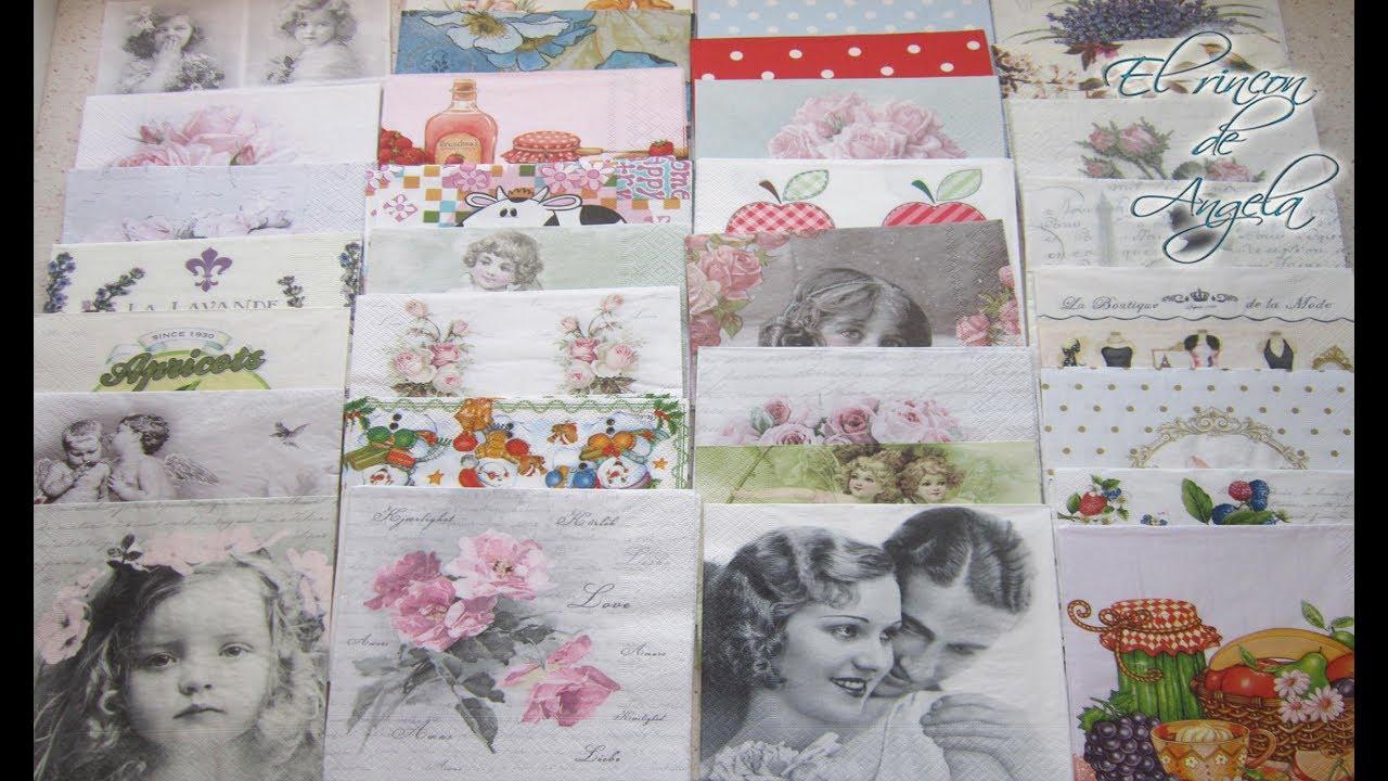 Servilletas decoradas para decoupage manualidades julio - Servilletas de papel decoradas para manualidades ...