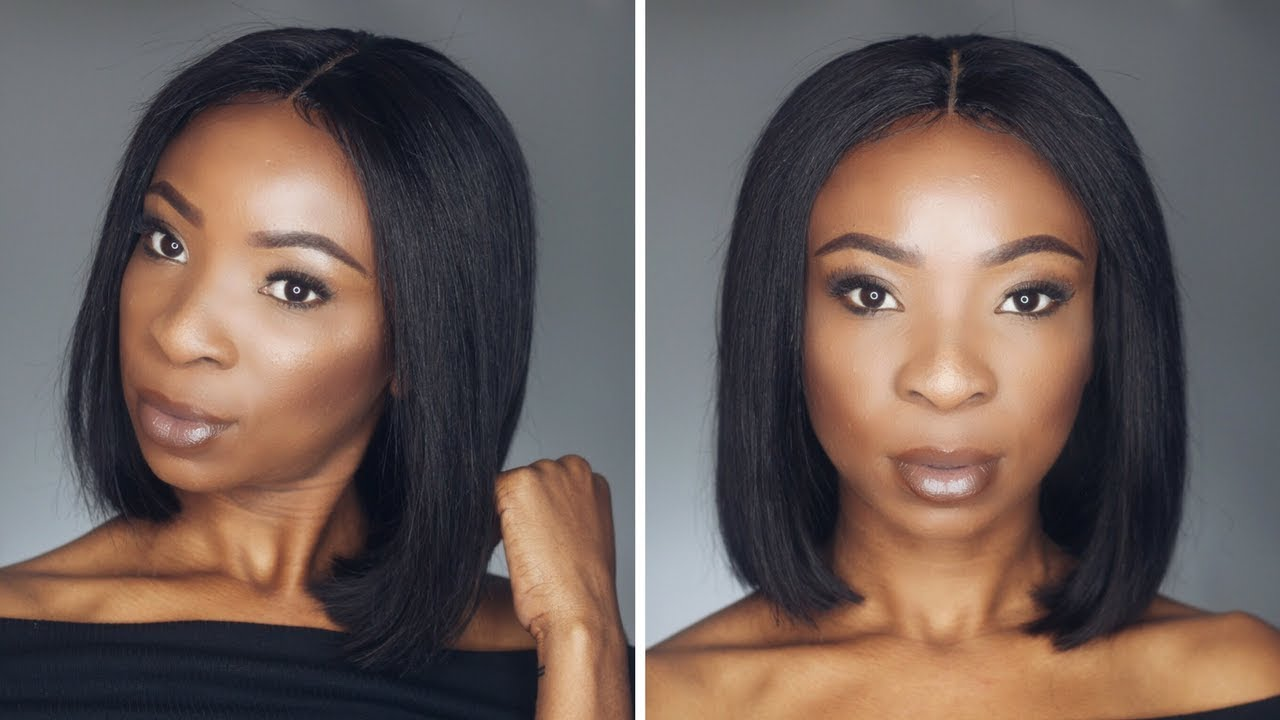 How I Cut Style Bob Wig South African Youtuber Youtube