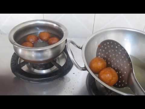 Gulab jamun sweet in tamil - குலாப் ஜாமூன் செய்முறை - How to make gulab jamun in Tamil