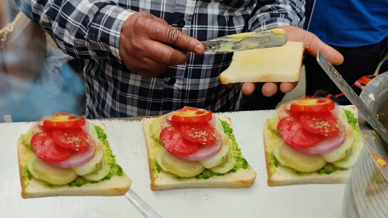 Download Hard Working Uncle Selling Bombay Special Sandwich and Bhel Puri   Indian Street Food