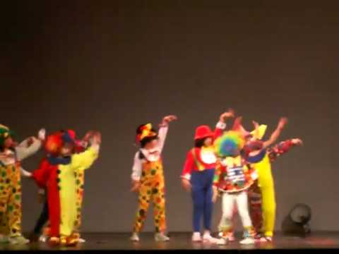 clown dance in ICA 2008 fair