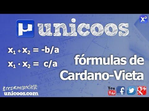 Formulas de VIETA SECUNDARIA (3ºESO) ecuacion de segundo grado matematicas