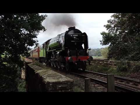 Tornado over Victoria Bridge, Severn Valley Railway, 24th sept 2016