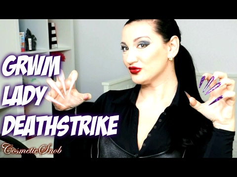 GRWM SKINCARE MAKEUP TUTORIAL LONG NAILS EDITION LADY DEATHSTRIKE XMEN | COSMETICSNOB